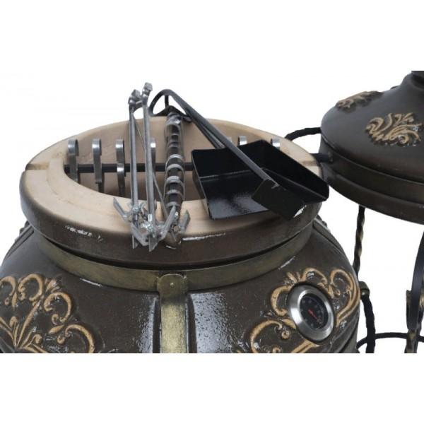 Тандыр Гранд (Черный) с двумя столиками
