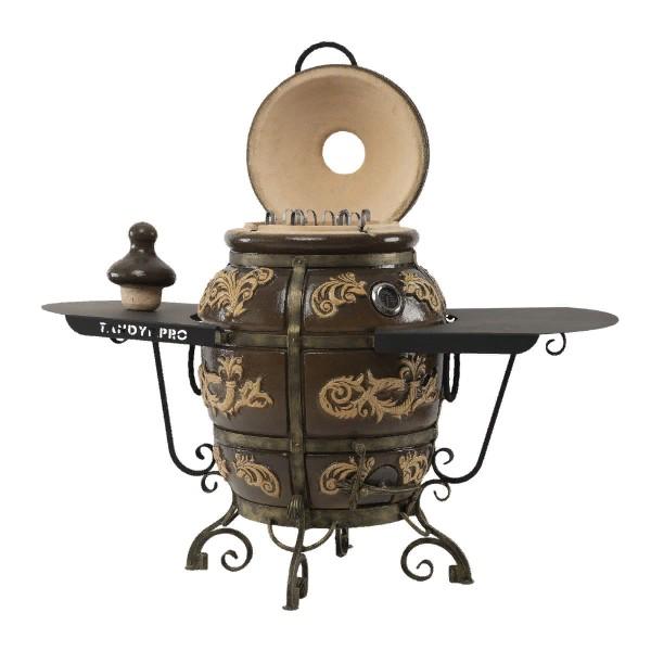Тандыр Персидский (Черный) с двумя столиками с откидной крышкой