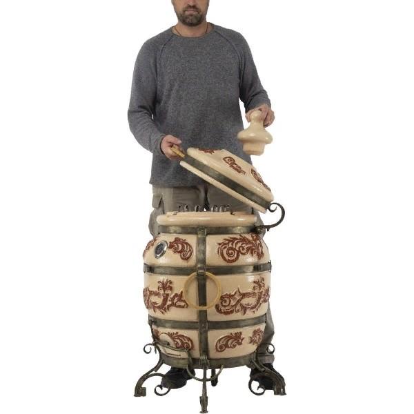 Тандыр Персидский (Слоновая кость) с откидной крышкой