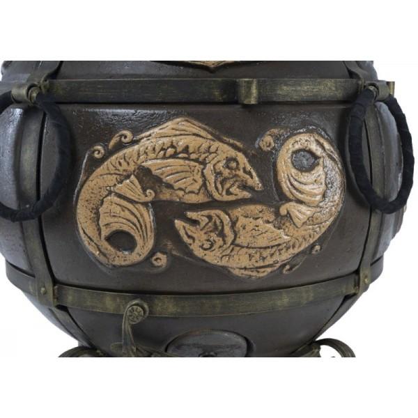Тандыр Шар (Черный) с двумя столикамина колесах