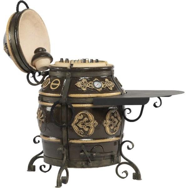 Тандыр Уфа (Черный) со столиком