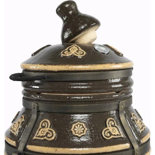 Тандыр Урал (Черный) с двумя столиками