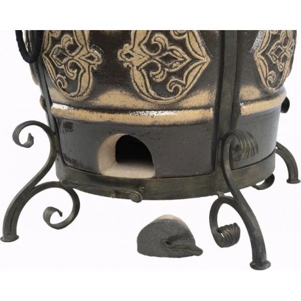 Тандыр Урал (Черный) со столиком